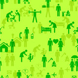 Icons - People, seamless wallpaper Royalty Free Stock Photos