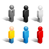 Icons people. Set of abstract figures of people. Color icons  on white background Stock Photos