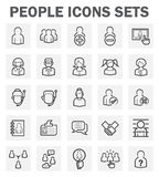 Icons. People icons sets on white background stock illustration