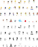 Icons of people in Summer Royalty Free Stock Photo