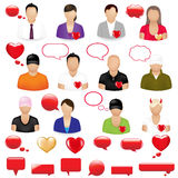 Icons Of People. Vector Stock Photos