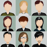 Icons with people. Vector illustration of nine icons with people Royalty Free Stock Photography