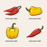Icons of pepper. Stock Images