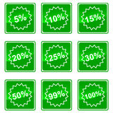 Icons with percent Royalty Free Stock Photo