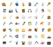 Icons for personal belongings stock illustration