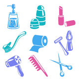 Icons personal care isolated Stock Image