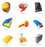 Icons for personal items Stock Photo