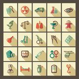 Icons of pharmacology and medicine. Vector illustration Stock Photo