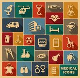 Medical icons. Vector illustration. Icons of pharmacology and medicine. Vector illustration Stock Image