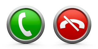 Icons phone answer & decline Stock Photo