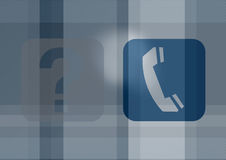 Icons of phone and questions Royalty Free Stock Image