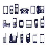Icons phones Royalty Free Stock Photography