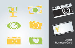 Icons photo. And a business card Royalty Free Stock Photo
