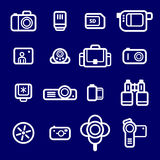 Icons Photo devices Stock Image