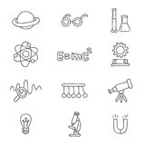 Icons on the physics Stock Photography