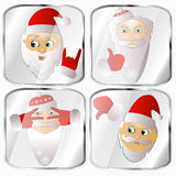 Icons, pictures, pendents about four Santa Claus vector on a gray background. Icons, pictures, pendents about four Santa Claus a vector on a gray background Stock Photo
