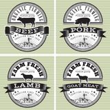 Icons pig, cow, sheep, goat Royalty Free Stock Photo