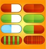 Icons pills set Royalty Free Stock Photo