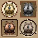 Icons pirate cuirass Stock Photo