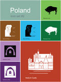 Icons of Poland Stock Photography