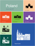 Icons of Poland Stock Images