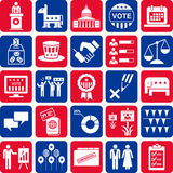 Icons of politics and American elections stock illustration