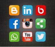 Icons  popular social Royalty Free Stock Photo