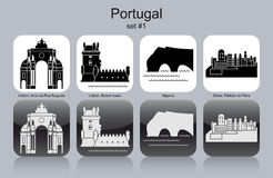 Icons of Portugal Royalty Free Stock Image