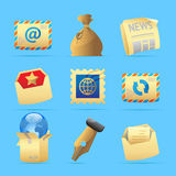 Icons for postal services Royalty Free Stock Photo