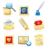 Icons for postal services Royalty Free Stock Photos