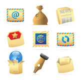 Icons for postal services Stock Photos