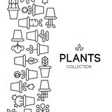 Icons of pot plants garden. Vector illustration Royalty Free Stock Images