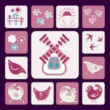 Icons Poultry Yard-02 vector illustration