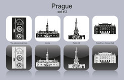 Icons of Prague Stock Image