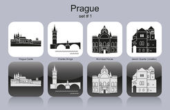 Icons of Prague Stock Images