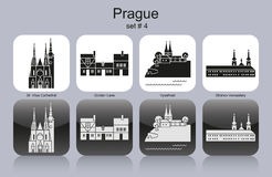 Icons of Prague Stock Photos