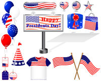 Icons for of the Presidents day. Stock Image