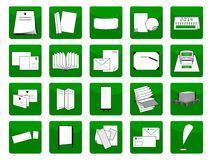 Icons printing items Stock Images