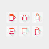 Icons for prints Royalty Free Stock Images