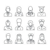 Icons with professions collection. Royalty Free Stock Photography