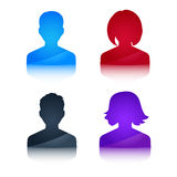 Icons profile colored avatar male and female Stock Photos