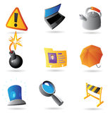 Icons for program interface Stock Photography