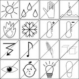 Icons with prohibitions of various actions Royalty Free Stock Photography
