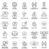 Icons psychological features of human personality. Stock Photography