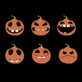 Icons pumpkins Royalty Free Stock Photos