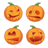 Icons pumpkins for Halloween Stock Photography