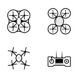 Icons for quadrocopter Royalty Free Stock Photos