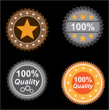 Icons quality Stock Image