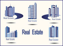 Icons Real Estate Royalty Free Stock Photo