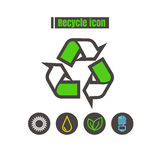 Icons Recycle colorful design vector line black on white backgro Royalty Free Stock Photos
